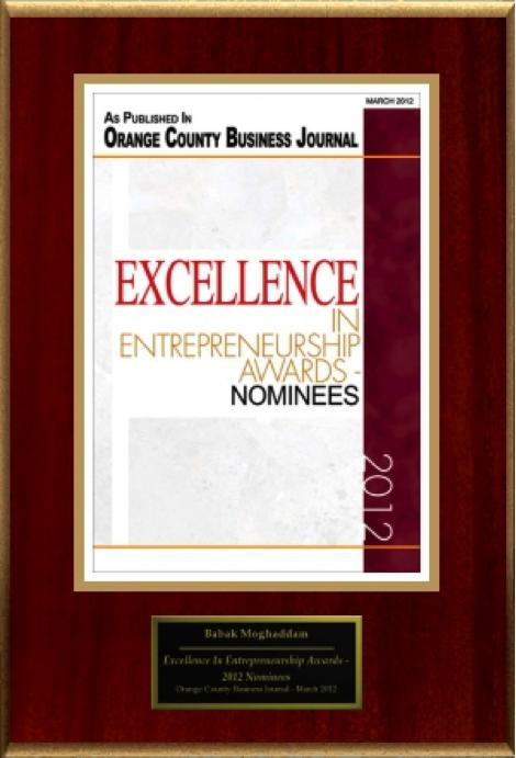 Babak Moghaddam Excellence In Entrepreneurship Awards
